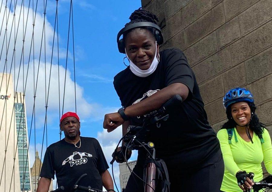 Principal+Breland+with+her+bike